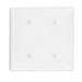 Leviton 80734-W 2-Gang Standard-Size No Device Blank Wallplate; Strap Mount, Thermoplastic Nylon, White