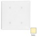 Leviton 80734-I 2-Gang Standard-Size No Device Blank Wallplate; Strap Mount, Thermoplastic Nylon, Ivory