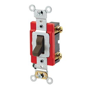Leviton 1221-2A Extra Heavy Duty Specification Grade AC Quiet Toggle Switch SPST  120/277 Volt AC  20 Amp  Almond