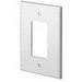 Leviton 88601 Decora® 1-Gang Oversized GFCI Decorator Wallplate; Device Mount, Thermoset Plastic, White