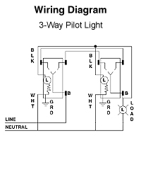 How To Wire Single Pole Light Switch with Pilot Light ...  Way Volt Rocker Switch Wiring Diagram on
