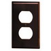 Leviton 85003 1-Gang Standard-Size Duplex Receptacle Wallplate; Device Mount, Thermoset Plastic, Brown