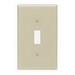 Leviton 86001 1-Gang Standard-Size Toggle Switch Wallplate; Device Mount, Thermoset Plastic, Ivory
