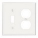 Leviton 88005 2-Gang Standard-Size Combination Wallplate; Device Mount, Thermoset Plastic, White