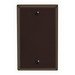 Leviton 85014 1-Gang Standard-Size No Device Blank Wallplate; Box Mount, Thermoset Plastic, Brown