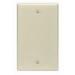 Leviton 86014 1-Gang Standard-Size No Device Blank Wallplate; Box Mount, Thermoset Plastic, Ivory