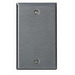 Leviton 84014 1-Gang Standard-Size No Device Blank Wallplate; Box Mount, Stainless Steel, Silver