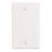 Leviton 88014 1-Gang Standard-Size No Device Blank Wallplate; Box Mount, Thermoset Plastic, White