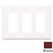 Leviton 80411 Decora® 3-Gang Standard-Size GFCI Decorator Wallplate; Device Mount, Thermoset Plastic, Brown