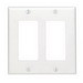 Leviton 80409-W Decora® 2-Gang Standard-Size GFCI Decorator Wallplate; Device Mount, Thermoset Plastic, White