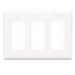 Leviton 80411-W Decora® 3-Gang Standard-Size GFCI Decorator Wallplate; Device Mount, Thermoset Plastic, White