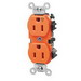 Leviton 5262-IG Double Pole Isolated Ground Straight Blade Duplex Receptacle; Wall Mount, 125 Volt, 15 Amp, Orange