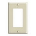 Leviton 80401-I Decora® 1-Gang Standard-Size GFCI Decorator Wallplate; Device Mount, Thermoset Plastic, Ivory