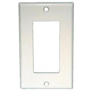 Mulberry 97834 1-Gang Oversized Duplex Receptacle Plate; Screw Mount, Stainless Steel, Silver