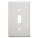 Mulberry 86071 1-Gang Standard-Size Toggle Switch Wallplate; Device Mount, Painted Steel, White