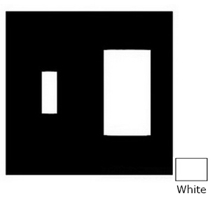 Mulberry 86432 2-Gang Standard-Size Combination Wallplate; Cold Rolled Steel, White