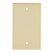 Mulberry 99151 1-Gang Blank Wallplate; Box Mount, Stainless Steel, Ivory