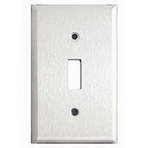 Mulberry 97071 1-Gang Standard-Size Specific Grade Toggle Switch Wallplate; Device Mount, Stainless Steel, Silver