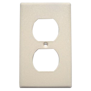 Mulberry 99101 1-Gang Standard-Size Duplex Receptacle Plate; Stainless Steel, Ivory