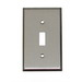 Mulberry 93071 1-Gang Standard-Size Toggle Switch Wallplate; Stainless Steel, Silver