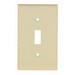 Mulberry 99071 1-Gang Standard-Size Toggle Switch Wallplate; Device Mount, Painted Steel, Ivory
