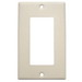Mulberry 99401 1-Gang Standard-Size GFI Decorator Plate; Device Mount, Stainless Steel, Ivory