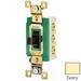 Bryant Electric 3025I Three Position Two Circuit Toggle Switch; DPDT, 120/277 Volt AC, 30 Amp, Ivory