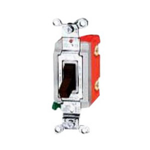 Hubbell Wiring HBL1221W Two Position Toggle Switch ; 1-Pole, 120 - 277 Volt AC, 20 Amp, White