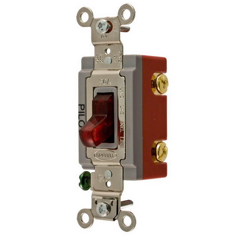 hubbell wiring hbl1222pl specification grade two position ac pilot hubbell wiring hbl1222pl specification grade two position ac pilot light toggle switch 2 pole 120 277 volt ac 20 amp red
