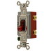 Hubbell Wiring HBL1222PL Specification Grade Two Position AC Pilot Light Toggle Switch ; 2-Pole, 120 - 277 Volt AC, 20 Amp, Red