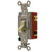 Hubbell Wiring HBL1223IL Illuminated Two Position AC 3-Way Lighted Toggle Switch ; 1-Pole, 120 - 277 Volt AC, 20 Amp, Ivory