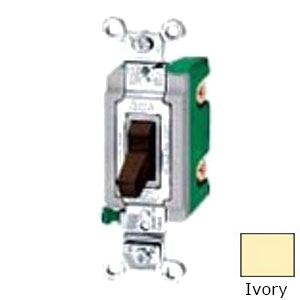 Hubbell Wiring HBL3031I Heavy Duty Grade Two Position Toggle Switch; 1-Pole, 120 - 277 Volt AC, 30 Amp, Ivory