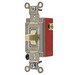 Hubbell Wiring HBL1388I Three Position Two Circuit Center Off Toggle Switch; DPDT, 120 - 277 Volt AC, 30 Amp, Ivory