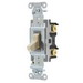 Hubbell Wiring CSB120I Specification Grade Two Position AC Toggle Switch; 1-Pole, 120 - 277 Volt AC, 20 Amp, Ivory