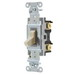 Hubbell Wiring CSB320I Specification Grade Two Position AC 3-Way Toggle Switch; 1-Pole, 120 - 277 Volt AC, 20 Amp, Ivory