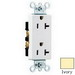 Pass & Seymour 26342-I Double Pole Straight Blade Duplex Receptacle; Wall Mount, 125 Volt, 20 Amp, Ivory
