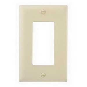 Pass & Seymour TP26-RED tradeMaster® 1-Gang Standard-Size GFCI Decorator Wallplate; Wall Mount, Nylon, Red