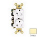 Pass & Seymour 5362-AI Double Pole Straight Blade Duplex Receptacle; Wall Mount, 125 Volt, 20 Amp, Ivory