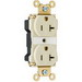 Pass & Seymour PT5362-AI PlugTail™ Double Pole Duplex Receptacle; Wall Mount, 125 Volt, 20 Amp, Ivory