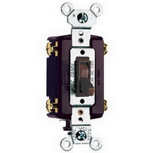 Pass & Seymour 664-G tradeMaster® 4-Way Toggle Switch; 4-Pole, 120 Volt AC, 15 Amp, Brown