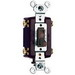 Pass & Seymour 664-G tradeMaster® 4-Way Toggle Switch; 4-Pole, 120 Volt AC, 15 Amp, Brown