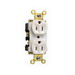 Pass & Seymour 5262-AI Double Pole Straight Blade Duplex Receptacle; Wall Mount, 125 Volt, 15 Amp, Ivory
