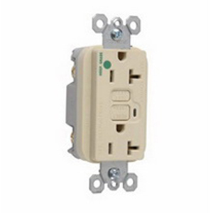 Pass & Seymour 2095-HGI Double Pole GFCI Receptacle; Wall Mount, 125 Volt, 20 Amp, Ivory