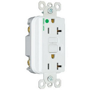 Pass & Seymour 2095-HGW Double Pole GFCI Duplex Receptacle; Wall Mount, 125 Volt, 20 Amp, White