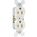 Pass & Seymour 3232-W tradeMaster® Tamper Resistant Double Pole Straight Blade Duplex Receptacle; Wall Mount, 125 Volt AC, 15 Amp, White