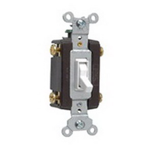 Pass & Seymour 664-WG tradeMaster® 4-Way Toggle Switch; 4-Pole, 120 Volt AC, 15 Amp, White