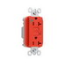 Pass & Seymour 2095-HGRED Double Pole GFCI Receptacle; Wall Mount, 125 Volt, 20 Amp, Red