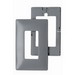 Pass & Seymour SWP26-GRY 1-Gang Screwless Decorator Wallplate with Subplate; Wall Mount, Plastic, Gray