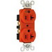 Pass & Seymour IG5362 Double Pole Isolated Ground Straight Blade Receptacle; Wall Mount, 125 Volt, 20 Amp, Orange