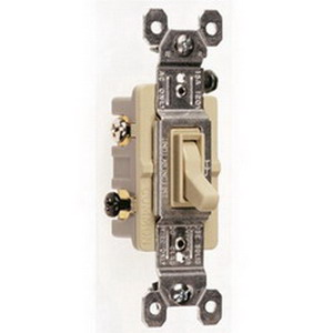 Pass & Seymour 663-IG tradeMaster® 3-Way Toggle Switch; 3-Pole, 120 Volt AC, 15 Amp, Ivory